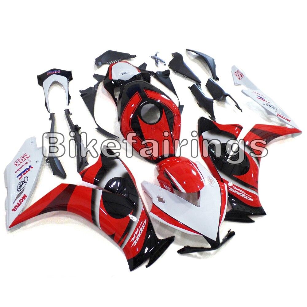 Pour Honda 2012 2013 2014 2015 CBR1000RR Sportbike panneaux en plastique Injection capot carrosserie carénage Kit rouge blanc noir couvre