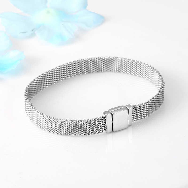 TOP Qualität 925 Sterling Silber Clip Perle Armbänder für Frauen Fit Original Reflexions Armband charme femme Schmuck Mode 2019