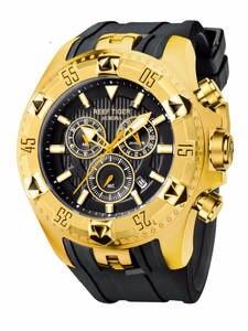 Спортивные мужские часы Reef Tiger/RT с хронографом, желтым золотом, резиновым ремешком, кварцевые часы reloj hombre masculino RGA303