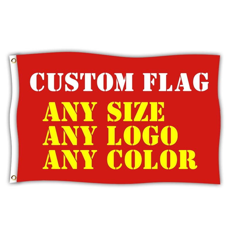 Custom Vlaggen En Banner Vliegende Opknoping Elke Grootte Logo Gratis Ontwerp Reclame Polyester Aangepaste Gedrukt Vlag Banner Decoratie