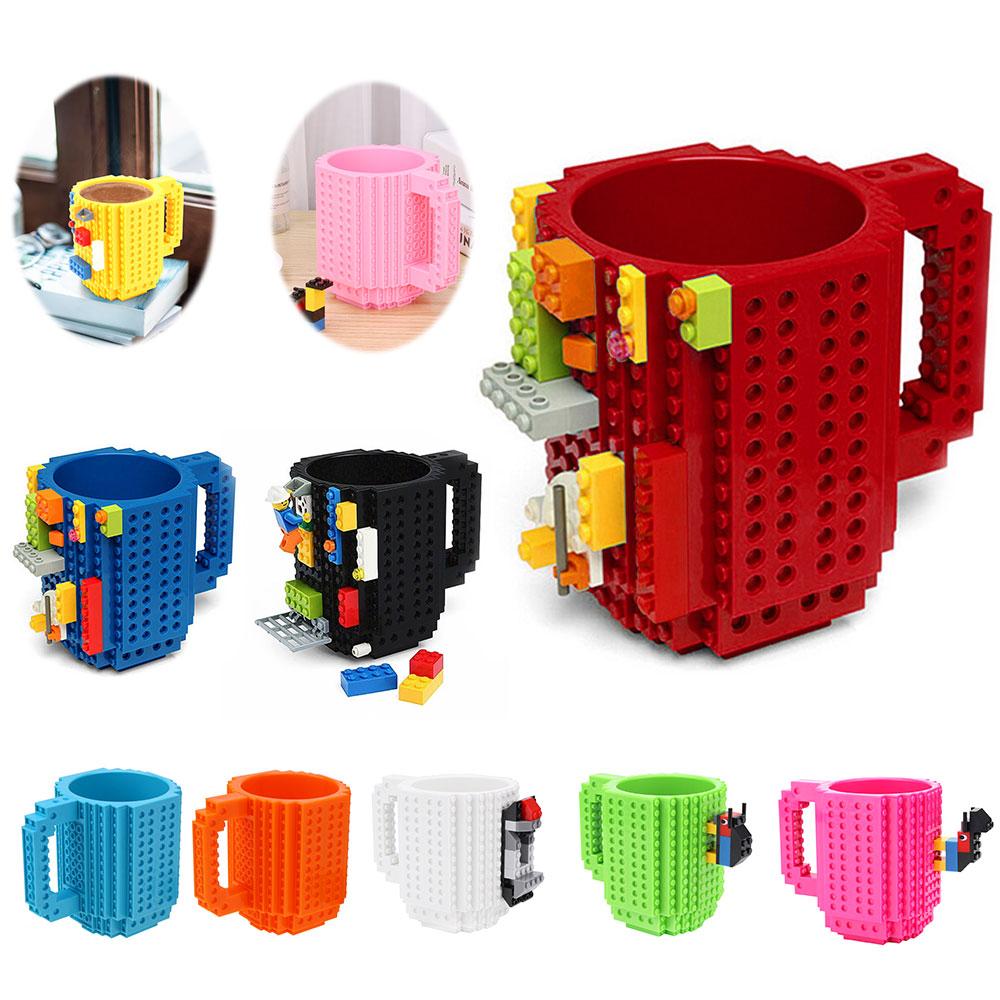350ml Milk Coffee Mug Cup Creative Build-on Brick Mug Cups Drinking Water Holder Building Blocks Cup DIY Puzzle Drinkware