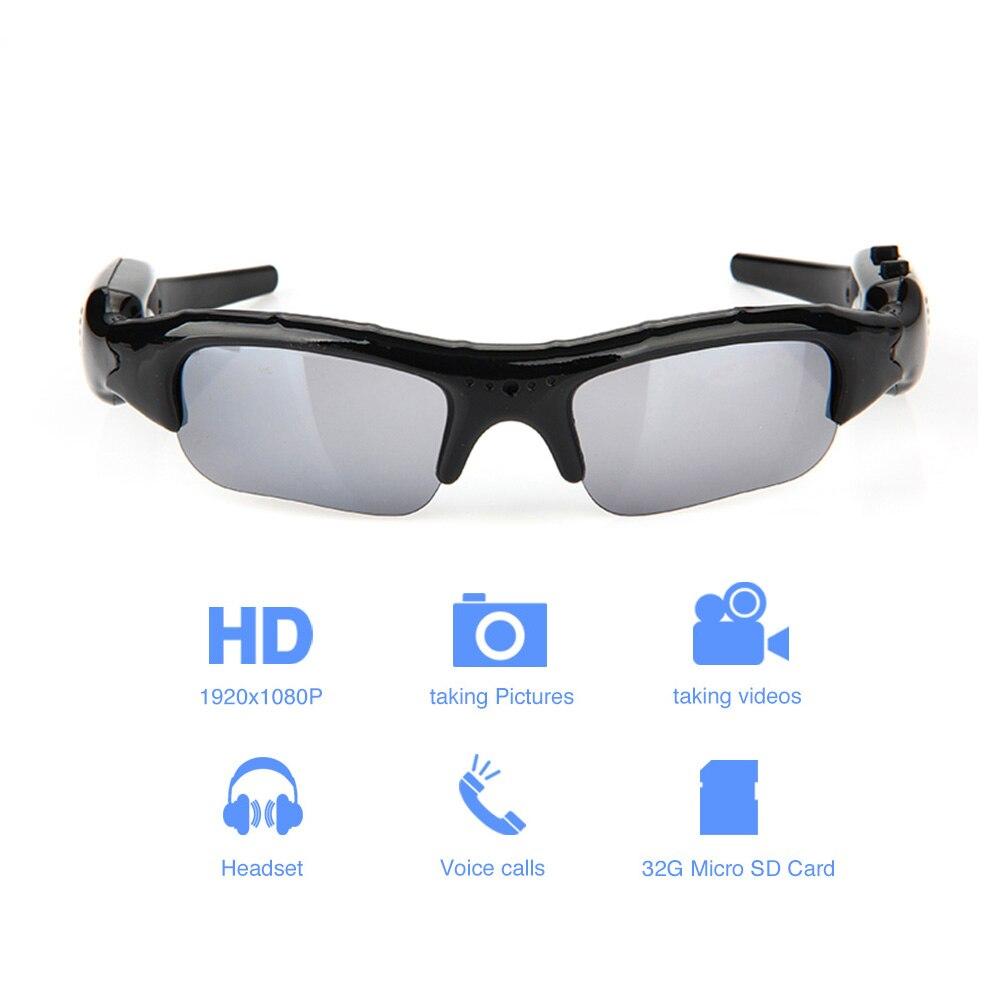 Segredo corpo Pequeno Micro Óculos Com óculos de Sol Da Câmera de Vídeo Full HD 1080p Mini Cam Wearable DVR Portátil Microcâmera Minicamera