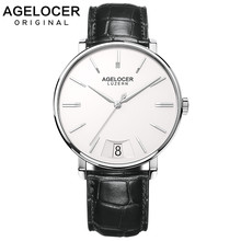 AGELOCER 2019 Swiss Quartz Watch Men Watches Top Brand Luxury Male Clock Business Mens Wrist Watch Hodinky Relogio Masculino(China)