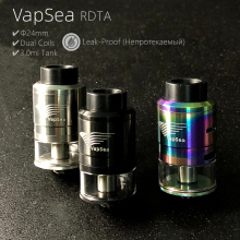 Original VapSea RDTA 3.0ml Capacity 24mm 22mm Vaporizer Tank For vaper RDA RTA Electronic Cigarette Box Mod Vape RDTA Atomizer