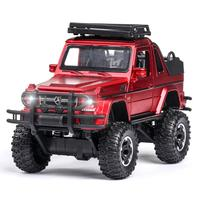 Hot scale 1:32 big wheels diecast suv car benz G500 metal model with light and sound pull back vehicle alloy toys collection