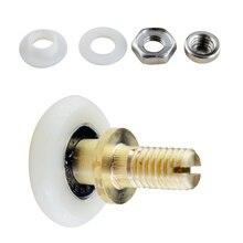 Душевая комната 20/23/25/27 мм OD ролик для раздвижные стеклянные двери колес с нейлоновым валиком медное колесо валик для ванной колеса