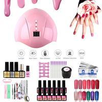 Nail Extension Glue 12 Color Nail Polish Glue Nail Set Nail Phototherapy Machine Lamp Gel Nail Polish Starter Kit Manicure Tool
