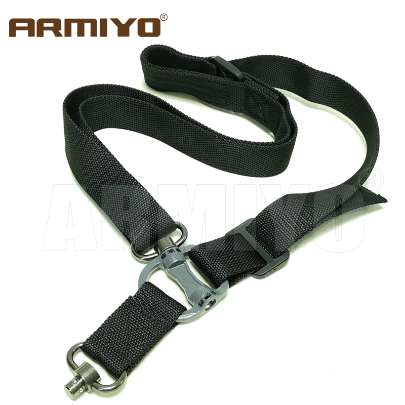 "Armiyo Tactical Rifle Mission Sling Gun Shoulder Strap m4 1.25"" Quick Release Loop Hook Hunting Pouches Accessories|multi mission sling|hunting gun accessories|gun accessories - title="