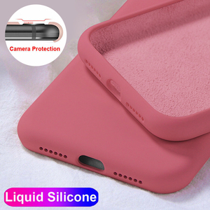 Luxury Liquid Silicone Case For iPhone 11 Pro Max SE 2 2020 XS XR X 10 6 S 6S iPhone 7 8 Plus Cell Phone Soft Back Cover(China)