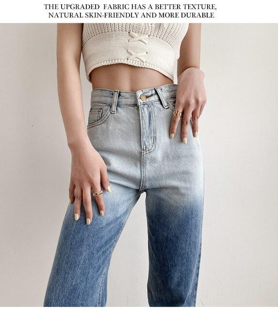High Waist Jeans in gradient blue