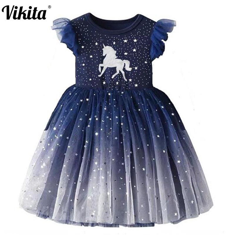 Vestido Infantil Kids Summer Princess Dress Girls Performance Costumes Children Birthday Party School Casual Unicorn Dresses