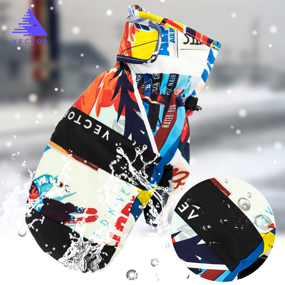 Vector 2-in-1 Mittens Ski Gloves Men Women Snow Sport Synthetic Insulation Warm Waterproof Windproof Fishing