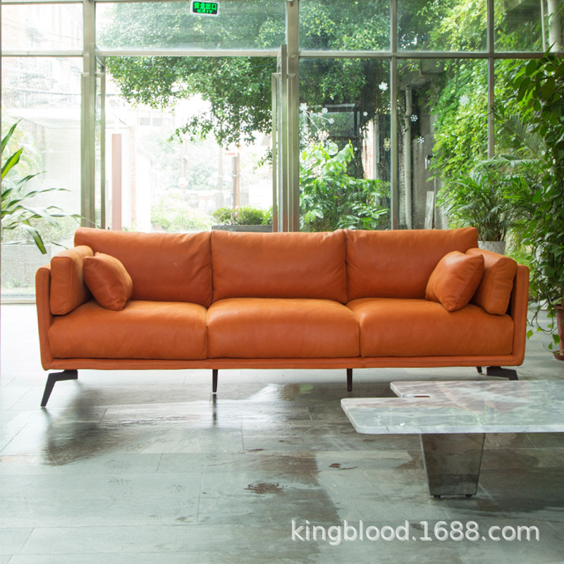 First Layer Leather Sofa Living Room