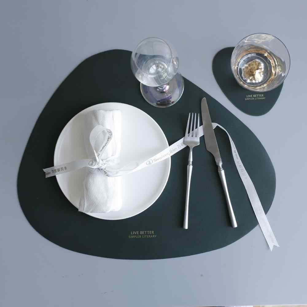 Cucina Isolato tavolo Zerbino coaster In Pelle Posto Zerbino Impermeabile E Antiolio Tavolo Isolamento Zerbino Tazza Zerbino Combinatio @ 5