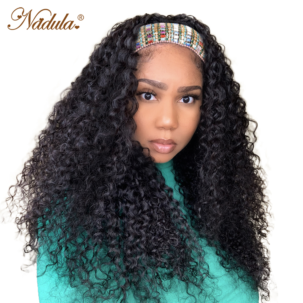 Nadula Curly Hair Headband Wigs  Curly Hair Wig  Hair Natural Wig for Women Glueless Easy to Style & Wear Wig 1