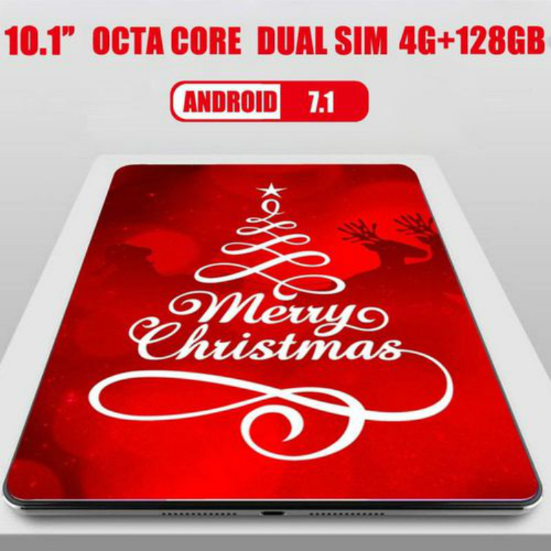 2020 New 10.1 Inch 4G LTE Tablet PC Octa Core 4GB RAM 128GB ROM 1280*800 IPS Tempered Glass 10 Tablets Android 8.0+Gifts