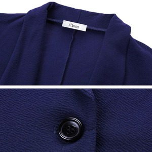 Image 3 - IClosam Blazer noir classique pour femmes, costume veste cintrée, couleur unie, tendance, manches longues, pour le bureau, collection 2019