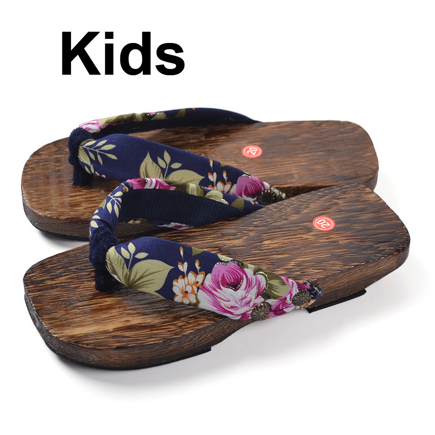 Newborn Baby Japanese Traditional Shoes Kids Boys Girls Wooden Geta Clogs Naruto Cosplay Flip Flops Novelty Chinese Slippers