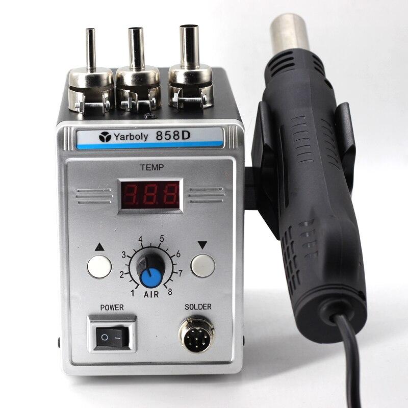 Image 3 - Soldering Station Digital Hot Air Heat Gun BGA SMD Rework 858D+ 60W Temperature Adjustable Electric Soldering Iron Welding ToolsSoldering Stations   - AliExpress