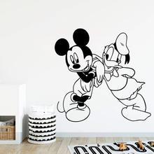 Дисней Микки Маус Дональд Дак виниловая наклейка на стену Детские