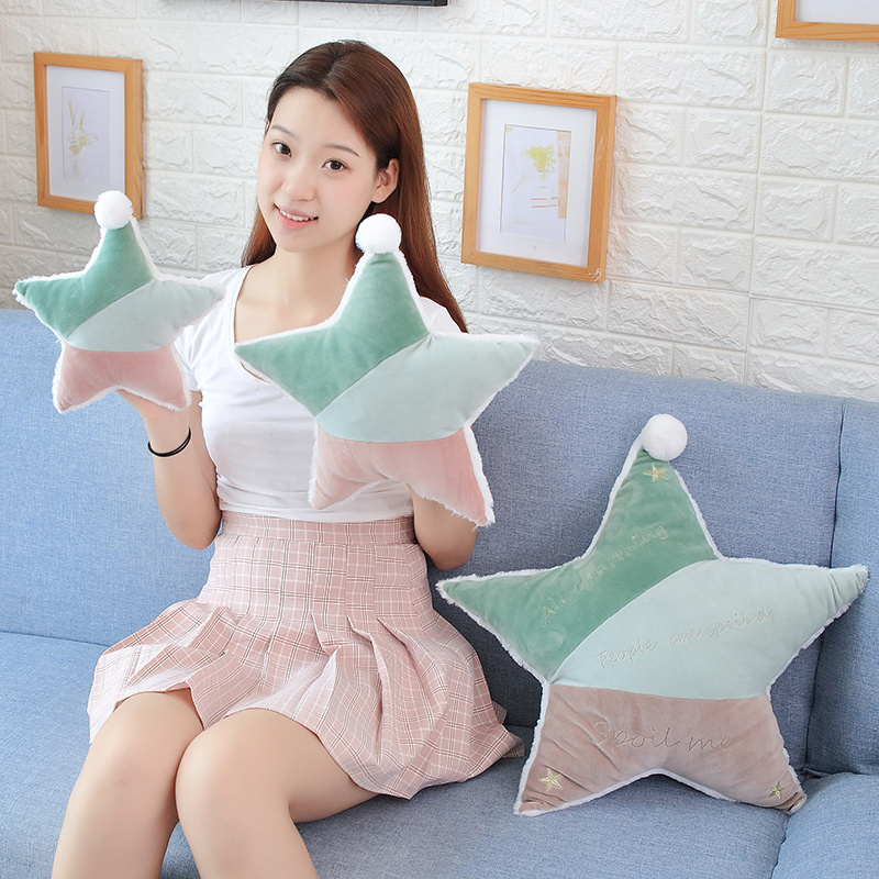 1PC 25CM Cute Five-pointed Star Pillow High Quality Plush Toys  Boys And Girls Christmas Gifts Sofa Sleeping Pillow Cushion
