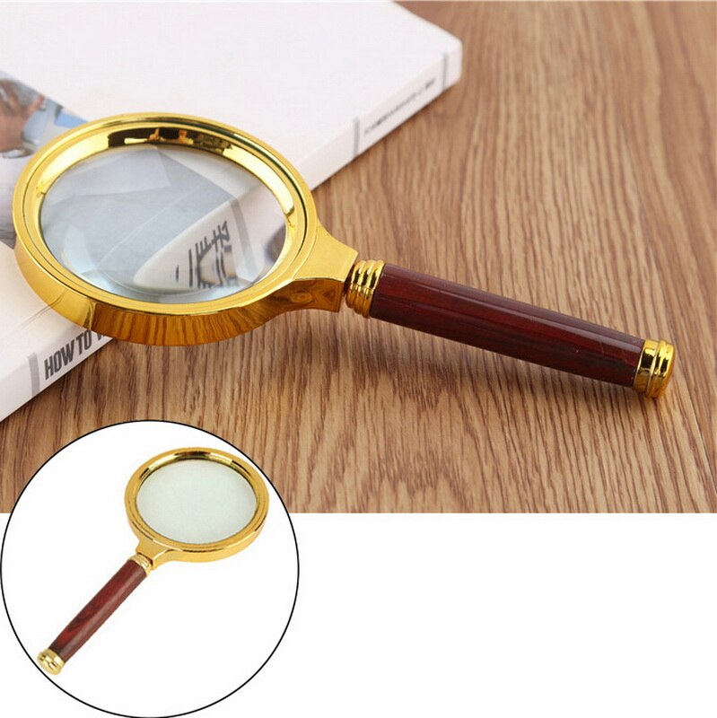 High-Quality 80mm Handheld Magnifier 10X Magnifying Glass Reading Jewelry Appraisal Repair Tool Loupe Gift
