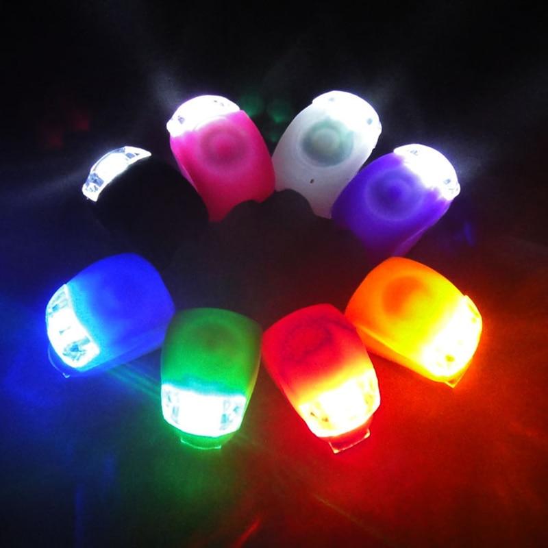 1 шт. велосипедный фонарь, велосипедный силиконовый декоративный светодиодный фонарь, фонарик для горного велосипеда, передний/задний фона...