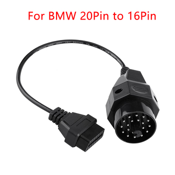 OBD II Car Diagnostic Connector Cable For BMW 20 pin to OBD2 16 PIN e36 Female OBD Adapter For GAZ 12 Pin to OBD2 16Pin image