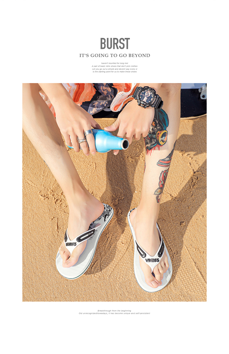 H326cac5466ef41858617fded2e3828a9V - VESONAL Summer Graffiti Print Slippers Men Shoes Flip Flops Slipers Male Hip Hop Street Beach Slipers Casual Flip-flops