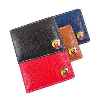 Bolso de piel auténtica para documentos de coche, cartera, paquete de tarjeta...