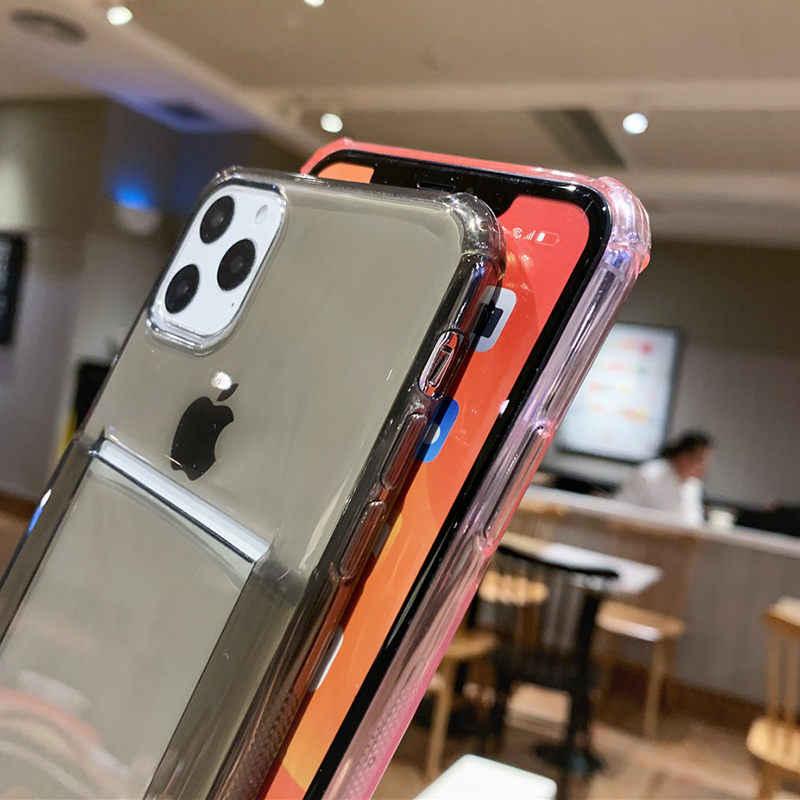 Lovebay ใสถุงลมนิรภัยกันกระแทกโทรศัพท์สำหรับ iPhone 11 Pro SE 2020 X XR XS สูงสุด 8 7 6s PLUS Candy ID บัตรเครดิต TPU