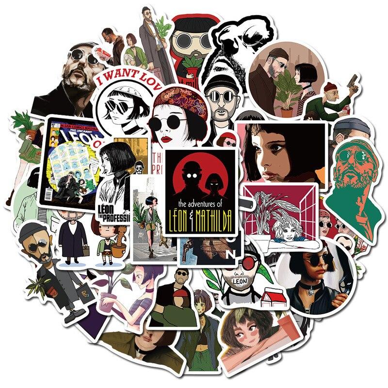 50pcs/set Michael Myers Killers Horror Sticker Waterproof Skateboard Luggage Laptop Sticker PVC Scrapbooking Halloween Stickers