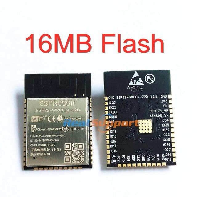 10PCS ESP32 WROOM 32D 16MB Flash Memory Wi Fi+BT+BLE ESP32 Module Espressif Original
