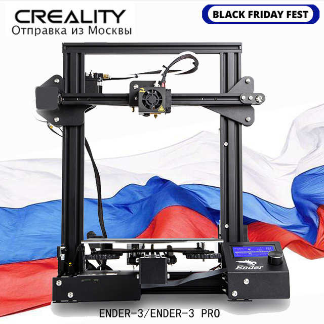 מקורי CREALITY 3D מדפסת Ender 3 או Ender 3 פרו DIY ערכת MeanWell כוח אספקת/עבור 1.75mm PLA ABS PETG /מרוסיה