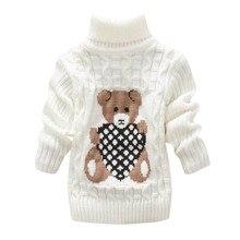 Теплый детский свитер с принтом медведя для мальчиков и девочек, Пальто осенние детские свитера с длинными рукавами мягкий пуловер для малышей Топы для малыша
