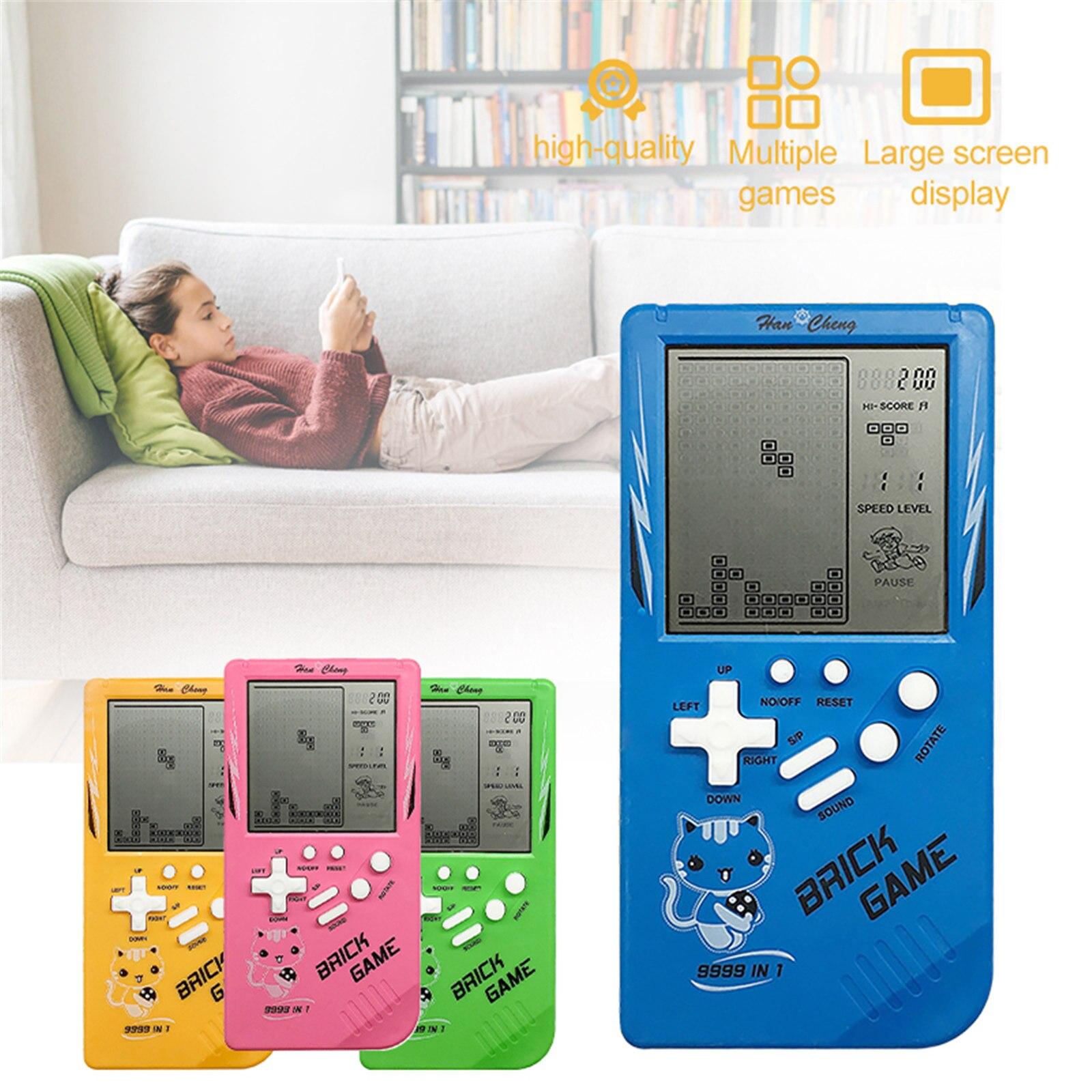 3,5 дюймовый Классический Портативный игровой автомат, игра тетрис, Детская игровая консоль, игрушка с воспроизведением музыки, ретро детски...