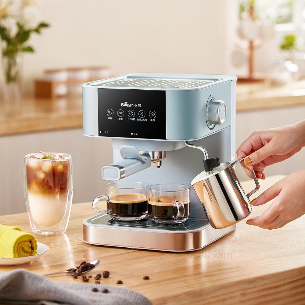 Home 15Bar Espresso Maker Coffee Machine Maker Espresso Semi Automatic Pump Pressure Steam Milk Frother Touch Panel 220V