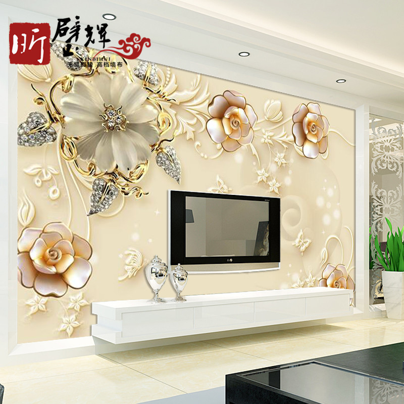 TV Backdrop Seamless Wall Cloth Stereo Large Mural Customizable Simple Nonwoven Fabric Home Improvement Mural Wall Covering Fabr