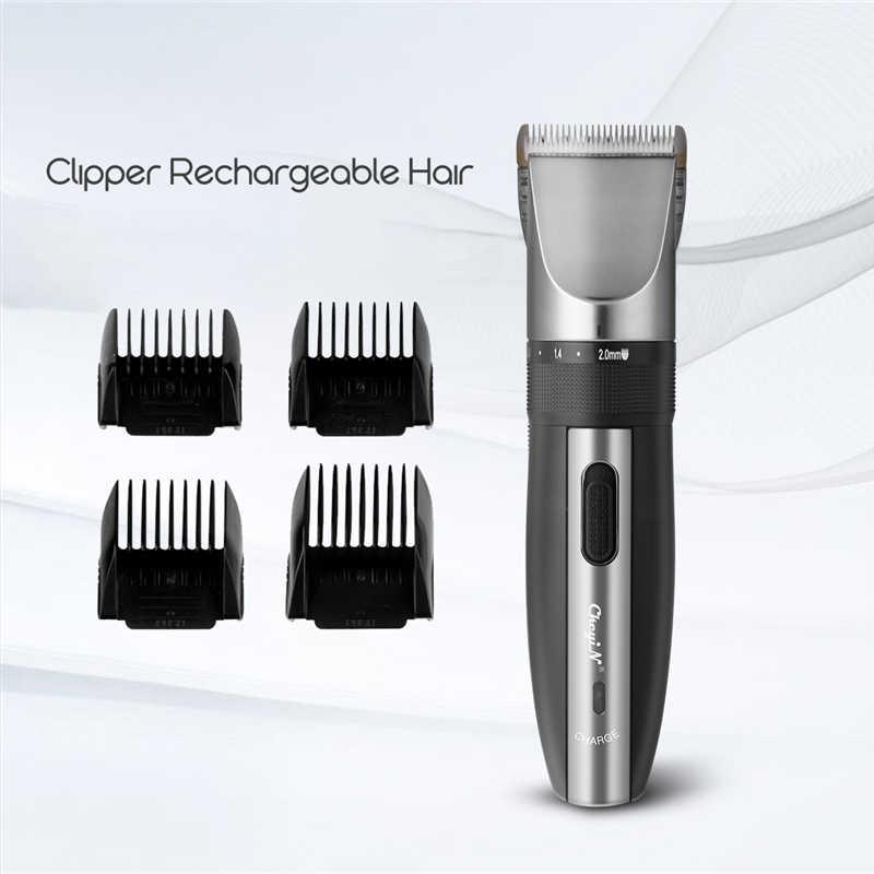 Máquina de Cortar Cabelo elétrica Recarregável Aparador de Pêlos Navalha Shaver Cordless 0.8-2.0mm Ajustável Baixo Ruído Para Adulto/Criança 43