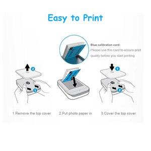 Image 4 - 50 枚/ボックスジンク写真用紙 5*7.6 センチメートル (2x3 inch) hp スプロケットフォトプリンタインクなし粘着性担保ポータブル印刷