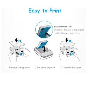 Image 4 - 50 arkuszy/pudło papier fotograficzny Zink 5*7.6cm (2x3 cale) do drukarek fotograficznych HP Sprocket bez tuszu przenośny druk samoprzylepny