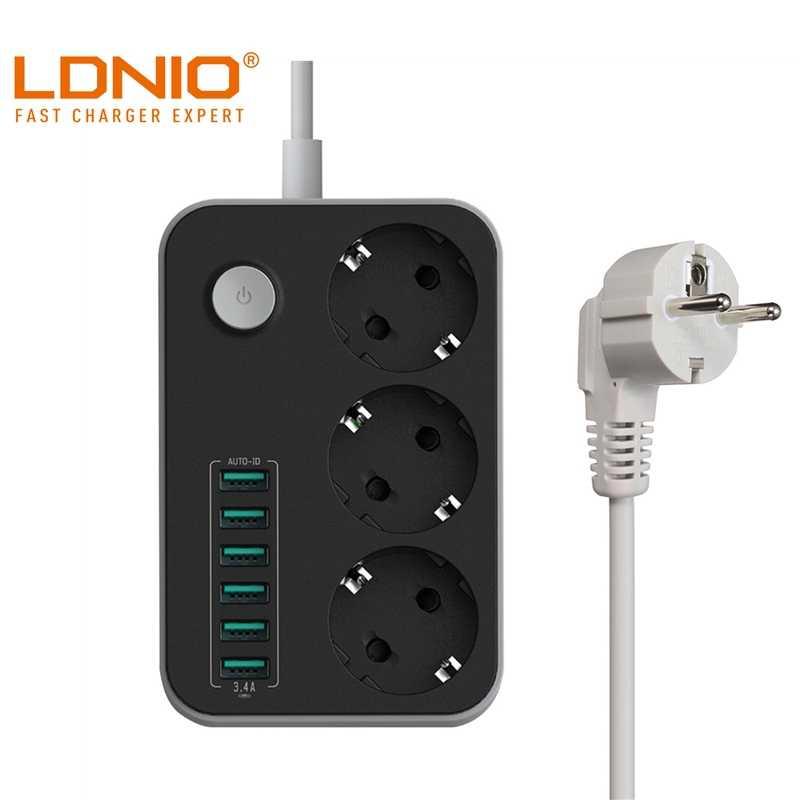 LDNIO 5V 3.4A inteligentna listwa zasilająca USB Desktop 3