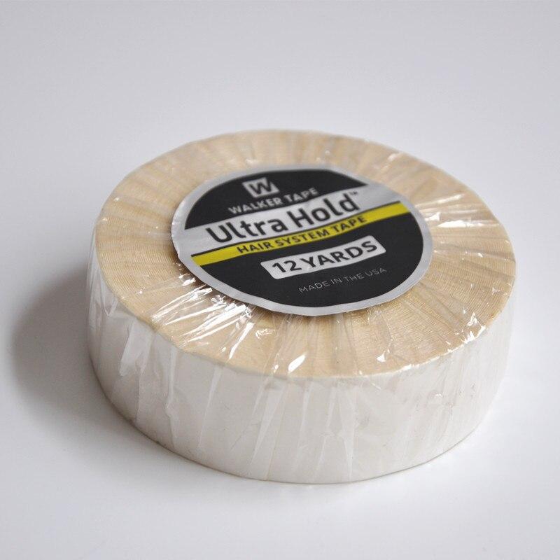 Peluca fuerte blanca de 3/4 pulgadas (1,9 cm)* 12 yardas, cinta adhesiva impermeable de doble cara para extensión de cabello de cinta, tupé, peluca de encaje 1/3/5m, cinta adhesiva reutilizable de doble cara, Nano sin rastro, pegatina extraíble, adhesivo lavable, discos de lazo, dispositivo de pegamento