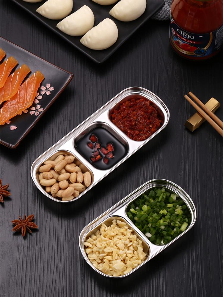 Дисковая кухонная тарелка из нержавеющей стали для барбекю суши