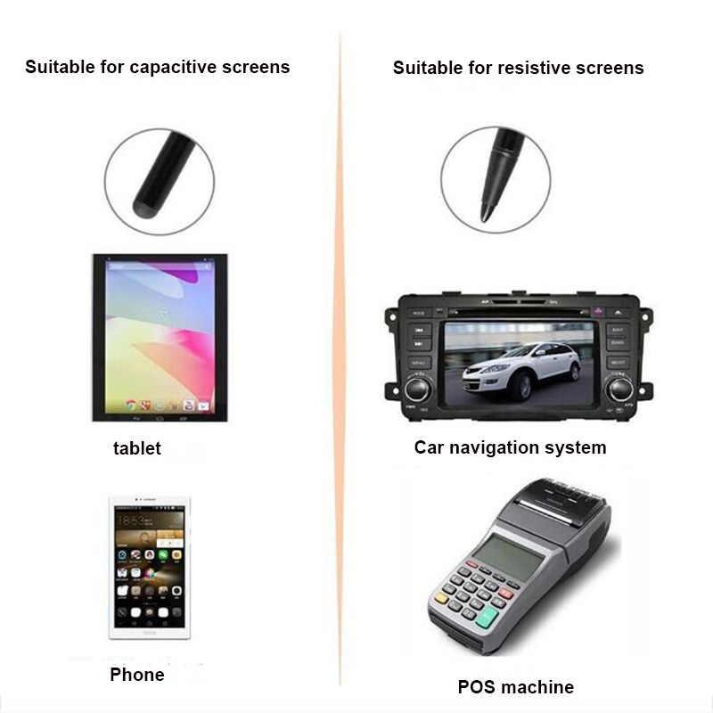 7.0 ذات الاستخدام المزدوج المعادن ستايلس بالسعة شاشة مقاوم شاشة ثنائي استخدام قلم اللمس والملاحة الهاتف المحمول العالمي ستايلس