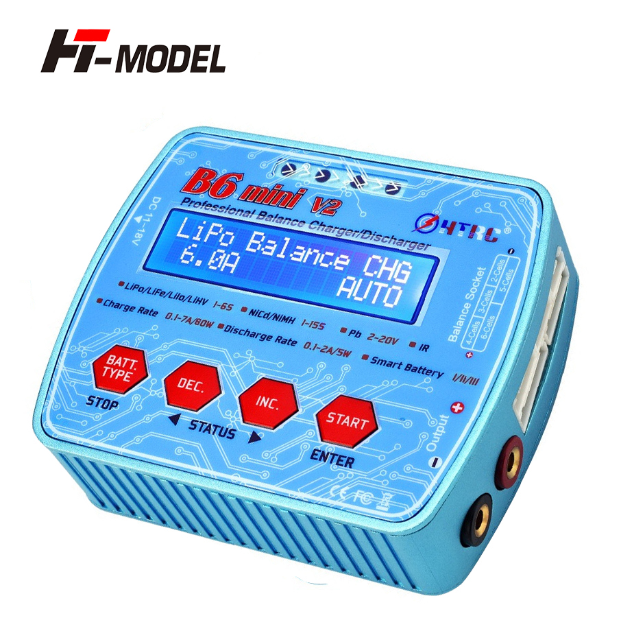 iMAX B6 Mini V2 70W 7A Professional Digital RC Model Balance Charger Discharger for Lipo Lihv LiIon LiFe NiCd NiMH Battery HTRC