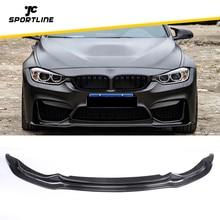 Передний бампер, спойлер, сплиттеры для BMW F80 M3 F82 F83 M4-, седан, купе, конвертируемое углеродное волокно/FRP