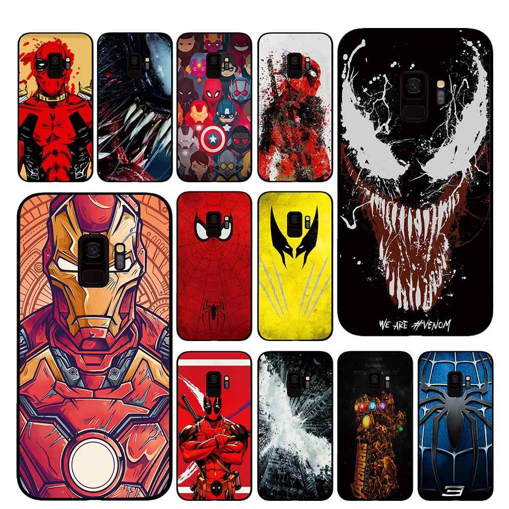 Venom quadrinhos deadpool spiderman Caixa Do Telefone para Samsung Galaxy S10 S10E S8 Plus S6 S7 Borda S9 S10e Plus Nota 8 9 capa