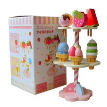 Baby Toys Simulation Magnetic Ice Cream Kitchen Toys Pretend Play Kitchen Food Baby Infant Toys Food Birthday Christmas Gift цены онлайн