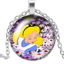 Fashion 2019 New Handmade Necklace Cartoon Peripheral Glass Pendant Necklace Personalized Gift Glamour Girl Necklace hot new charm girl necklace handmade necklace cartoon anime white cat glass pendant necklace gift jewelry